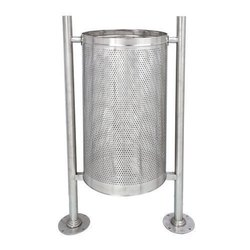 Road Side Stainless Steel Dustbin