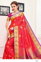 Red Colour Art Silk Women Saree