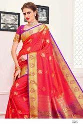 Red Colour Art Silk Women Saree