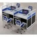 Wood Aluminium Corporate Office Modular Workstation