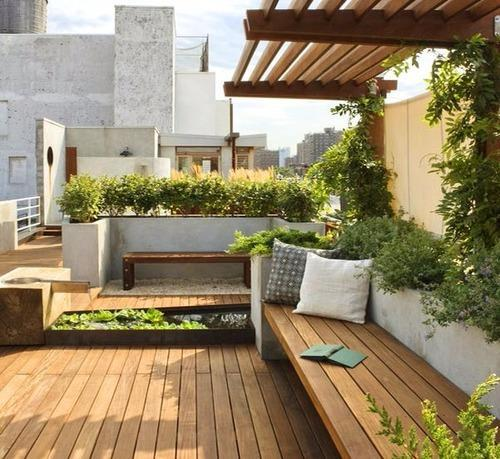 Terrace Garden Modern Roof Home Terrace Garden In