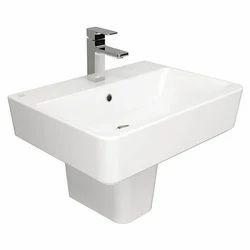 Ceramic White Single Hole Vanity Hand Wash Basin