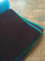 Plain 42-Nylon Tapeta Flock Velvet for Pasting, Toran, Jewelry Box
