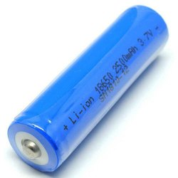 3.7 Volt 2500mah Lithium Ion Rechargeable 18650 Battery