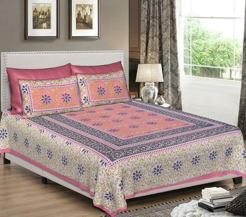 6ddca0f04404 printed cotton bedsheet - Jaipuri Cotton Double Bedsheet With 2 ...