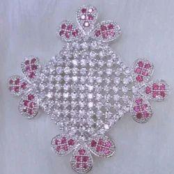 Cubic Zirconia Saree Pin