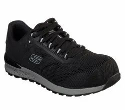 SKECHERS SAFETY SHOES 77180 Blk Composite Toe