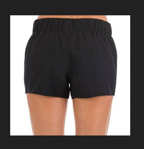 c22f0b6d3f Decathlon Black tana women' s plain boardshorts with elasticated waistband  - black