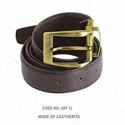 Black Leatherite Promotional Gents Belt