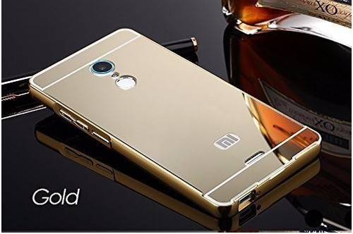 new styles 219cc fc38c Luxury Metal Bumper Acrylic Mirror Back Case Cover