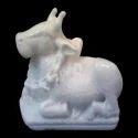 Marble Small Nandi Statue