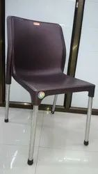 Plastic SS Cafe Chair For Restaurants, Model Name/Number: 90111
