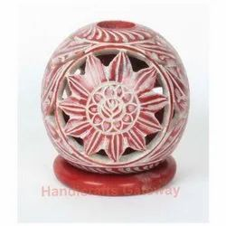 Colorful Soapstone Candle Holder