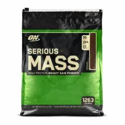 ON Serious Mass High Protein Gain Powder, Packaging Size: 12 Lbs, Packaging Type: Can