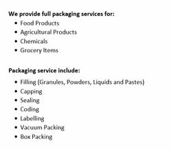 Contract Packaging Service