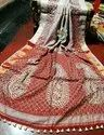 Silk Handmade Cutwork On Pure Matka Saree