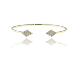 6.71 gms Yellow Gold Diamond Bangle, Size: 66 x 9 mm