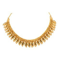 HQ Diamonds Party Wear Designer Gold Necklace, 35 Gram