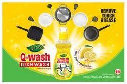 QWASH Lemon Liquid Dishwash, For Dish Washing