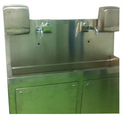 Scrub Sink With Hand Dryer