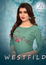 Fashion Mart Party Wear Kurti for Womens With Heavy Embroidery