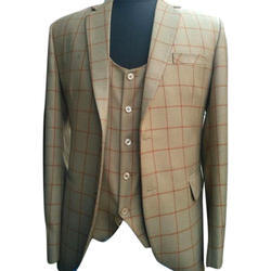 36 40 Wedding Party Mens Designer Checked Coat Rs 1270 Piece
