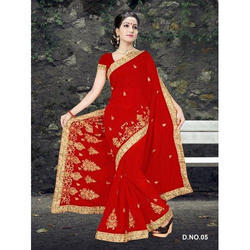 Fancy Red Saree