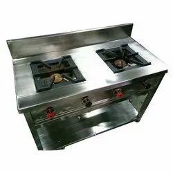 LPG 2 Burner Cooking Range, For Restaurant