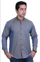 Grey Nehru Collar Casual Shirt