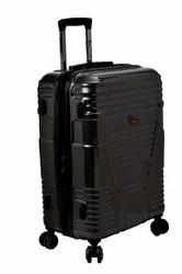 F Gear Valkyrie Polycarbonate 64 (cm) Black Hardsided Suitcase (4 Wheel Trolley Case)