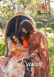 Shangrila Kusum Floral Print Saree Catalog Collection