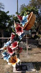 Fiberglass Fiber Made Flower Art