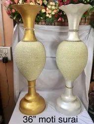 Surahi Decorative Metal Flower Pot