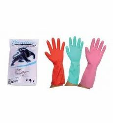 Unisex Mix House Hold Rubber Hand Gloves, Model Name/Number: Panther, Size: Medium