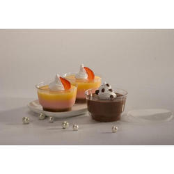 Natural Plastic 100ml container Mousse Cup, For Event and Party Supplies, Packaging Type: Packet