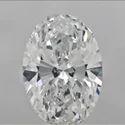 White Oval Shape Diamond