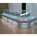Stainless Steel Refrigerated Display Counter, For Restaurant