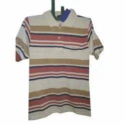 Cotton Mens Half Sleeve Collar T Shirt, Size: S to XXL