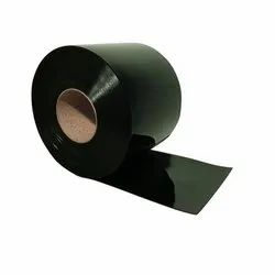 Black PVC Strip Curtain Roll - Colour Green