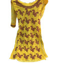 Ladies Yellow Georgette Embroidered Suit