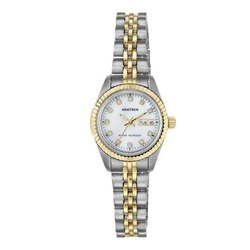 Armitron Glory 24 mm 75-2475mop Dial With Swarovski Crystal Accented Two-Tone Ladies Bracelet Watch