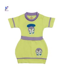 Round Neck Stylish Frock For Baby Girls