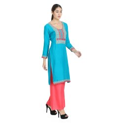 Neck Embroidered Kurti (STYLISH)