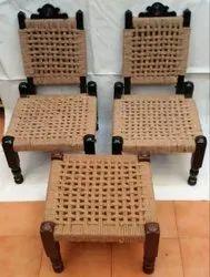 Traditional Handmade Jute Chair