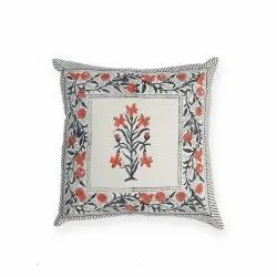 Cotton Cushion Cover, Floral Cushion Cover, 40 x 40 Cushion Cover
