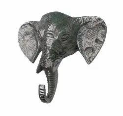 Metal Elephant Wall Head Animal Statue