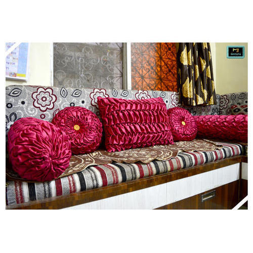 Maroon Color Sofa Pillow Set At Rs 1899