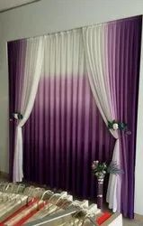 Decorative Polyester Plain Curtain, For Window, Size: 7x5 Feet