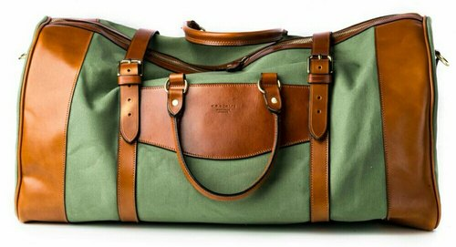 Daphne Canvas Duffle Bag With PU Leather Accents 7934abf0b143e