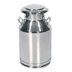 Stainless Steel Silver Milk Container